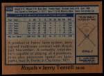 1978 Topps #525  Jerry Terrell  Back Thumbnail