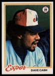 1978 Topps #495  Dave Cash  Front Thumbnail