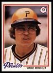 1978 Topps #383  Mario Mendoza  Front Thumbnail