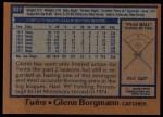 1978 Topps #307  Glenn Borgmann  Back Thumbnail