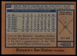 1978 Topps #474  Jim Slaton  Back Thumbnail