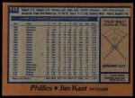1978 Topps #715  Jim Kaat  Back Thumbnail