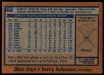 1978 Topps #169  Jerry Johnson  Back Thumbnail