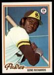 1978 Topps #292  Gene Richards  Front Thumbnail