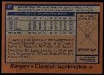 1978 Topps #67  Claudell Washington  Back Thumbnail