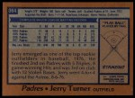 1978 Topps #364  Jerry Turner  Back Thumbnail