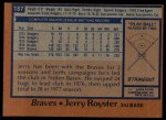 1978 Topps #187  Jerry Royster  Back Thumbnail