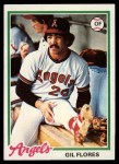 1978 Topps #268  Gil Flores  Front Thumbnail