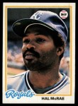 1978 Topps #465  Hal McRae  Front Thumbnail