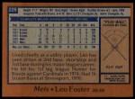 1978 Topps #229  Leo Foster  Back Thumbnail