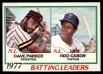 1978 Topps #201   -  Dave Parker / Rod Carew Batting Leaders   Front Thumbnail