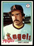 1978 Topps #454  Dave LaRoche  Front Thumbnail