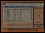 1978 Topps #118  Terry Harmon  Back Thumbnail