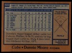 1978 Topps #523  Donnie Moore  Back Thumbnail