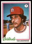 1978 Topps #531  Tom Underwood  Front Thumbnail