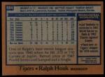 1978 Topps #684  Ralph Houk  Back Thumbnail