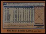 1978 Topps #524  Bernie Carbo  Back Thumbnail