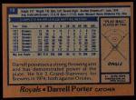 1978 Topps #19  Darrell Porter  Back Thumbnail
