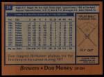 1978 Topps #24  Don Money  Back Thumbnail