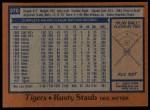 1978 Topps #370  Rusty Staub  Back Thumbnail