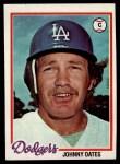 1978 Topps #508  Johnny Oates  Front Thumbnail