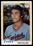 1978 Topps #432  Terry Bulling  Front Thumbnail