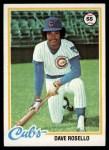 1978 Topps #423  Dave Rosello  Front Thumbnail