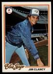 1978 Topps #496  Jim Clancy  Front Thumbnail