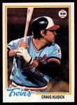1978 Topps #137  Craig Kusick  Front Thumbnail
