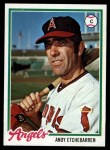 1978 Topps #313  Andy Etchebarren  Front Thumbnail