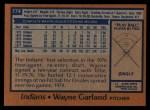 1978 Topps #174  Wayne Garland  Back Thumbnail