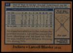 1978 Topps #61  Larvell Blanks  Back Thumbnail