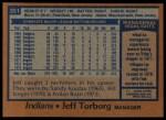 1978 Topps #351  Jeff Torborg  Back Thumbnail