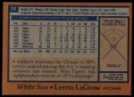1978 Topps #14  Lerrin LaGrow  Back Thumbnail
