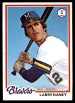 1978 Topps #391  Larry Haney  Front Thumbnail