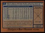 1978 Topps #41  Burt Hooton  Back Thumbnail
