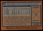 1978 Topps #595  Sixto Lezcano  Back Thumbnail