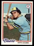 1978 Topps #595  Sixto Lezcano  Front Thumbnail