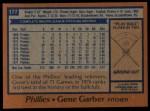 1978 Topps #177  Gene Garber  Back Thumbnail