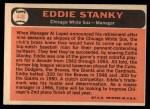 1966 Topps #448  Eddie Stanky  Back Thumbnail