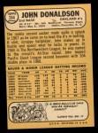 1968 Topps #244  John Donaldson  Back Thumbnail