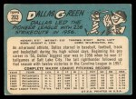 1965 Topps #203  Dallas Green  Back Thumbnail