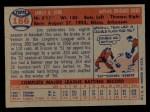 1957 Topps #186  Jim King  Back Thumbnail
