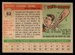 1955 Topps #52  Bill Tremel  Back Thumbnail
