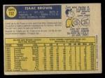 1970 O-Pee-Chee #152  Ike Brown  Back Thumbnail