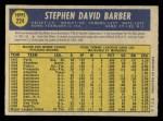 1970 O-Pee-Chee #224  Steve Barber  Back Thumbnail