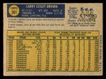 1970 O-Pee-Chee #391  Larry Brown  Back Thumbnail