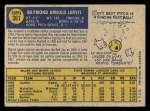 1970 O-Pee-Chee #361  Ray Jarvis  Back Thumbnail