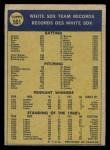 1970 O-Pee-Chee #501   White Sox Team Back Thumbnail
