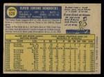 1970 O-Pee-Chee #528  Elrod Hendricks  Back Thumbnail